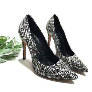 ALICE + OLIVIA | sz 36 black and white dot heels